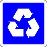 Recicle o sinal azul ilustração royalty free