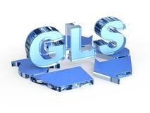 Recicle o sinal de GLS (que recicla códigos - o vidro) Imagem de Stock Royalty Free