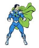 Recicle o super-herói da banda desenhada que está na pose heroico para o ambiente Fotografia de Stock