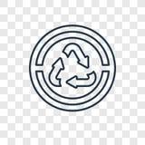 Recicle o vetor que do conceito das setas o ícone linear isolado sobre transparen ilustração stock