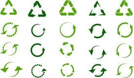 Recicle os sinais ajustados ilustração royalty free