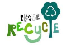Recicle por favor stock de ilustración