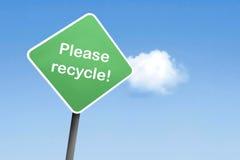Recicle por favor Fotos de archivo libres de regalías