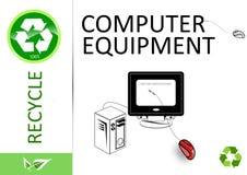 Recicle por favor el material informático Fotografía de archivo libre de regalías
