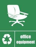 Recicle por favor el mobiliario de oficinas Fotos de archivo