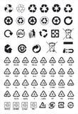 Recicle símbolos Imagens de Stock