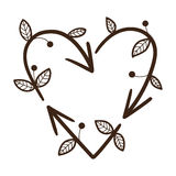 Recicle setas em uma forma do coração Imagens de Stock