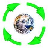 Recicle a terra limpa Fotos de Stock Royalty Free