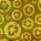 Recicle. Teste padrão sem emenda. Imagens de Stock