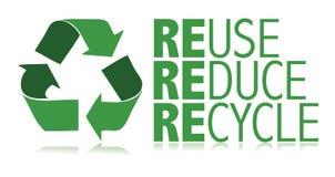 Recicle/vector Imagen de archivo libre de regalías