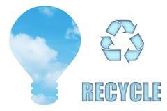 Recicle y salve nuestro planeta Fotografía de archivo libre de regalías