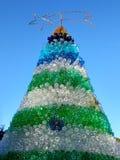Recicled разливает рождественскую елку по бутылкам Стоковая Фотография RF