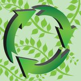 recicletecken Royaltyfri Bild