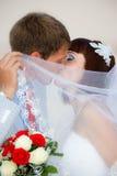 Recienes casados Fotografía de archivo