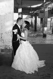 Recienes casados Foto de archivo
