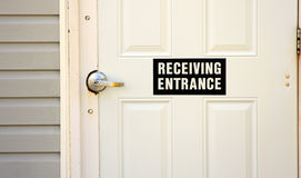 Recieving door Royalty Free Stock Photos
