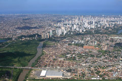 Recife from the air Stock Photos