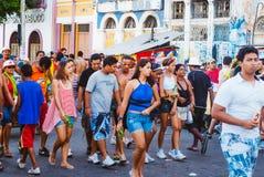 Carnival parade in recife,pernambuco, brazil royalty free stock images