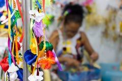Carnival in Recife, Pernambuco, Brazil, 2018. Recife, Brazil - February 9th, 2018: A Carnival store accesories at Av Rio Branco in Recife royalty free stock photos