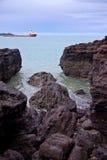 Recife da costa Imagens de Stock
