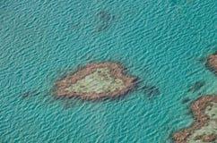 Recife do coração - Austrália Fotos de Stock Royalty Free