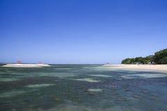 Seascape bali Indonésia da praia de Sanur Imagem de Stock