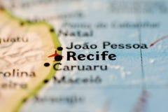 Recife Map Stock Photo