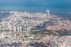 Recife Pernambuco Brazil. The buildings of downtown Recife, Pernambuco, Brazil at the shore of the Atlantic Ocean Royalty Free Stock Photos