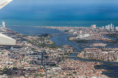 Recife Pernambuco Brazil. The buildings of Recife, Pernambuco, Brazil at the shore of the Atlantic Ocean Stock Image