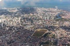 Recife Pernambuco Brazil. The buildings of Recife, Pernambuco, Brazil at the shore of the Atlantic Ocean Royalty Free Stock Images