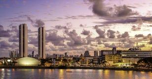 Recife in Pernambuco, Brazil. Skyline of Recife in Pernambuco, Brazil at susnet stock photos