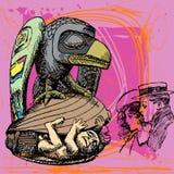 Recién nacido y cuervo Imagen de archivo