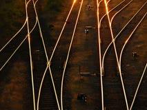 recinta la ferrovia Fotografie Stock Libere da Diritti