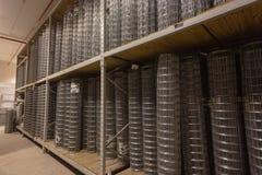 Recinzione dell'hardware del filo di acciaio Immagine Stock Libera da Diritti