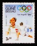 Recintando, serie dei giochi olimpici, circa 1983 Fotografia Stock