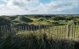 Recintato e panorama sul campo da golf di collegamenti Immagine Stock Libera da Diritti