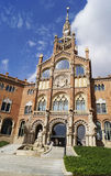 Recinte Modernista de Sant波城在巴塞罗那 免版税库存照片