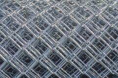 Recinto acciambellato Pattern del collegamento a catena del metallo Fotografia Stock Libera da Diritti
