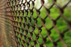 Recinto arrugginito del metallo Fotografia Stock Libera da Diritti