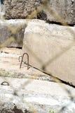Recinto Boundary dei blocchi in calcestruzzo Fotografia Stock Libera da Diritti
