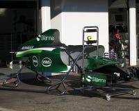 Recinto chiuso di Caterham di Formula 1 - foto F1 Fotografia Stock Libera da Diritti