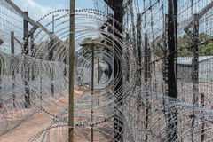 Recinto/confine di Barbwire immagini stock libere da diritti