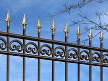 Recinto decorativo del metallo con gli ornamenti Fotografia Stock Libera da Diritti