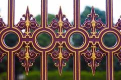 Recinto decorato metallico del recinto di Heldenplaz Immagini Stock