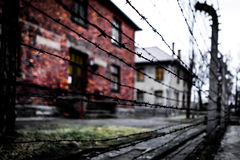 Recinto del museo di Auschwitz-Birkenau fotografia stock libera da diritti