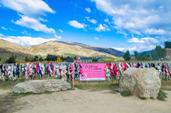 Recinto del reggiseno di Cardrona, Nuova Zelanda Immagini Stock Libere da Diritti