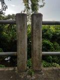 Recinto della colonna del ponte fotografia stock libera da diritti