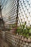 Recinto della maglia del filo di acciaio fotografie stock