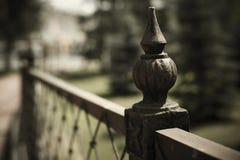 Recinto Detail del ferro battuto fotografia stock libera da diritti