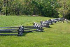 Recinto di ferrovia del serpente Ridge Parkway blu, la Virginia, U.S.A. Immagine Stock